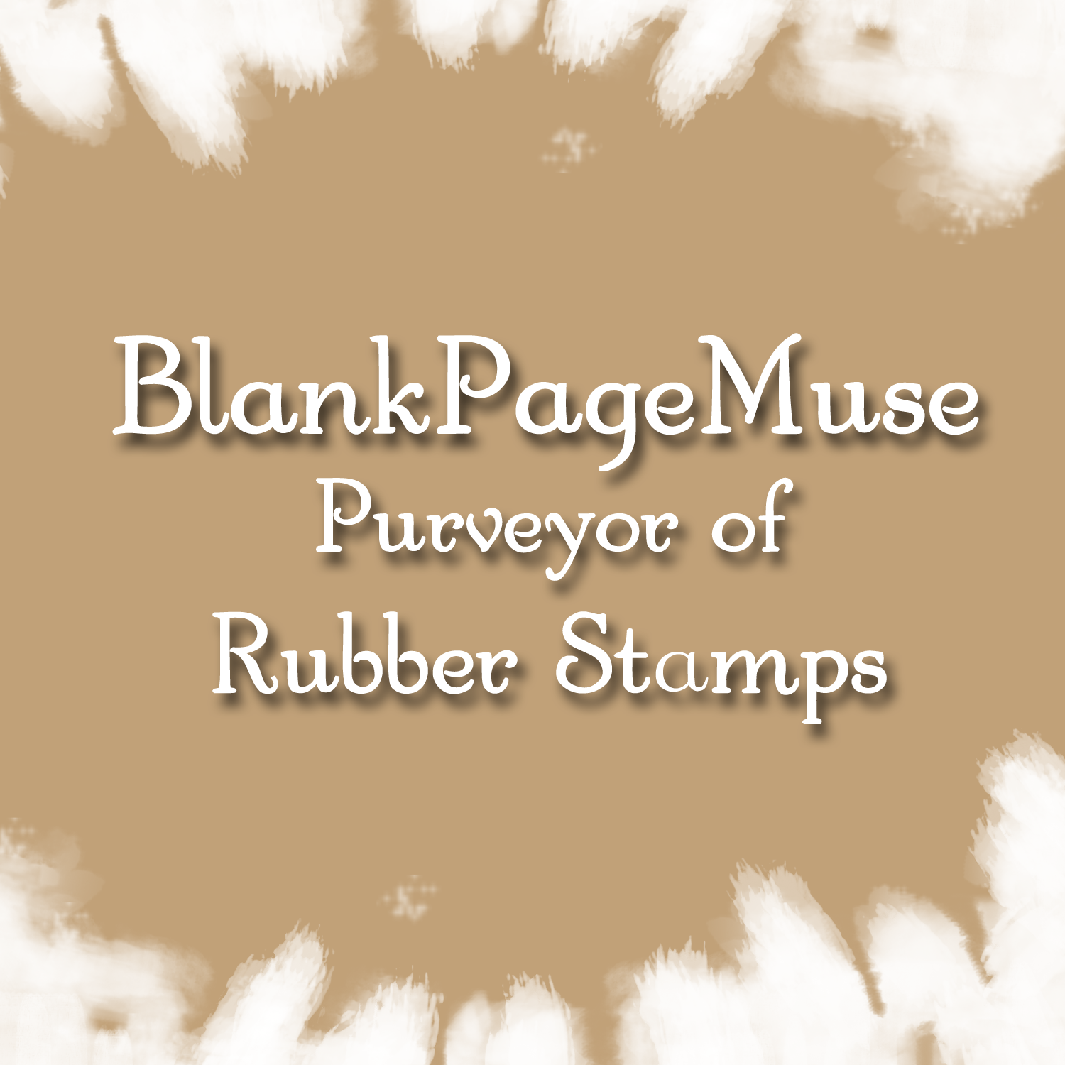 Blank Page Muse Rubber Stamps
