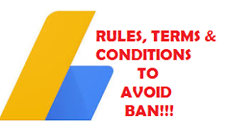 What to do to avoid ban on adsense