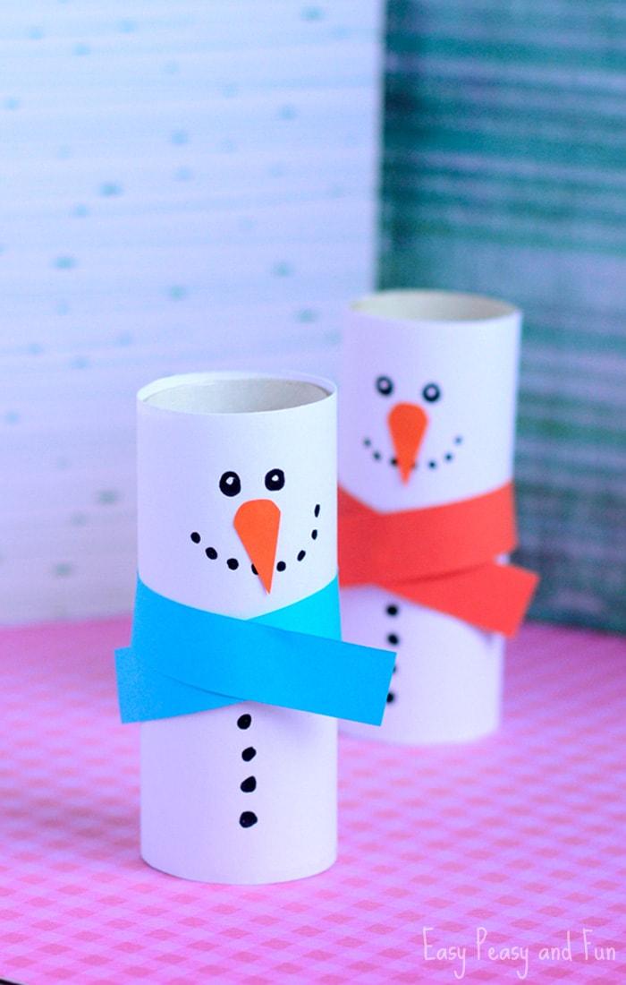 toilet paper snowmen