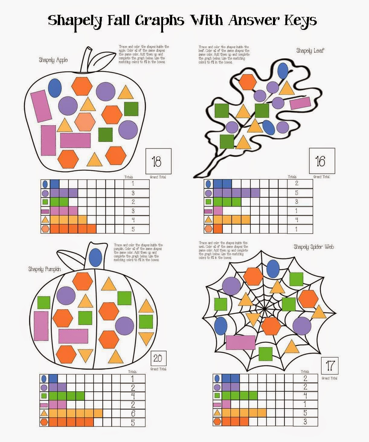 Classroom Freebies Shapely Fall Graphs