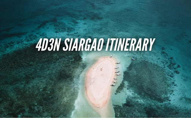 Siargao Itinerary detailed travel guide blog