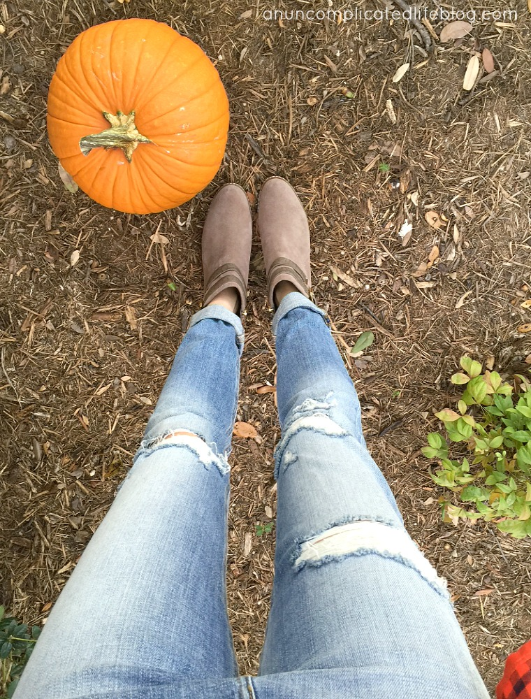 Distressed Joe's Jeans and booties