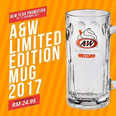 A&W Limited Edition Mug Discount Offer Price Promo