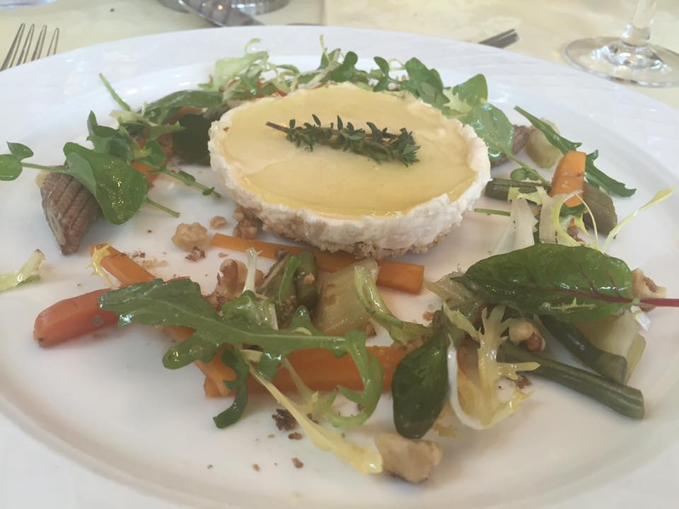 Crab and Lobster Restaurant, Thirsk - Goats cheese starter