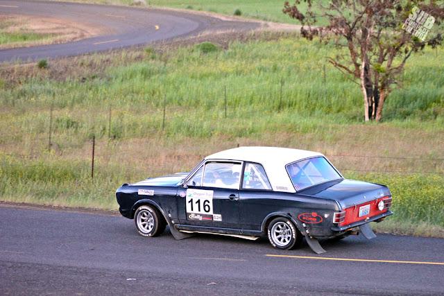 Ford Lotus Cortina at Oregon Trail Rally - Maryhill Stage