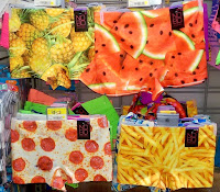 Walmart NoBo food graphic design underwear pineapple, watermelon, pizza, french fries