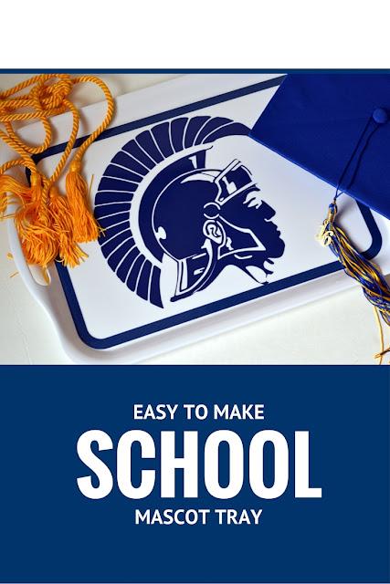 easy to make school mascot tray