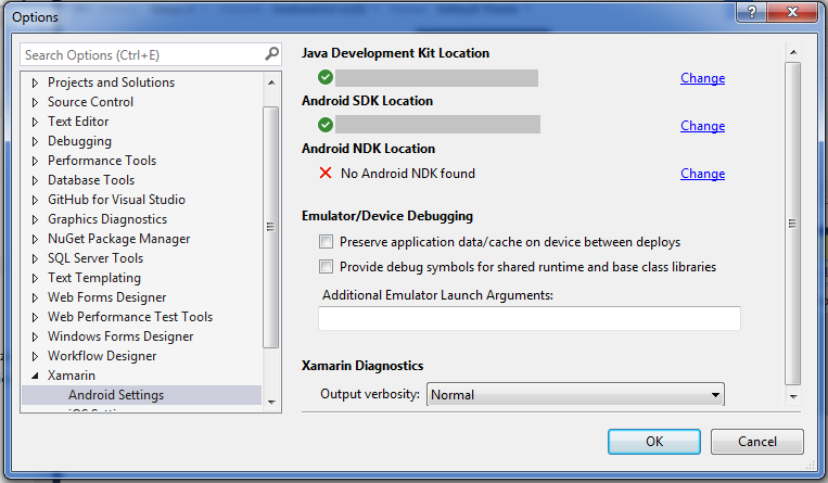 Android Development: Cannot find Android NDK Visual Studio