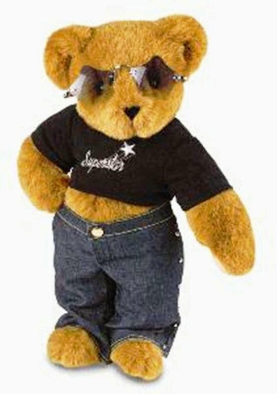 Gambar boneka beruang pakai kacamata keren banget
