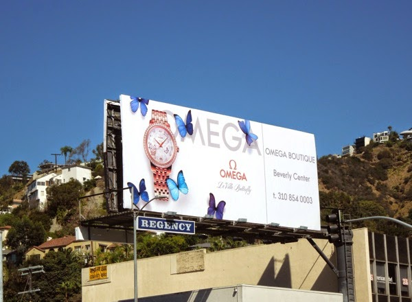 Omega boutique le ville butterfly billboard