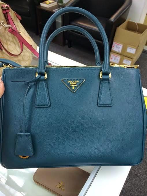 e8c83515373e Prada BN1801 Saffinao Leather Tote-Ottanio Saffiano leather tote, double  handle, detachable shoulder strap gold plated hardware, saffiano leather  triangle ...