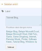 cara membuat label atau kategori di blog