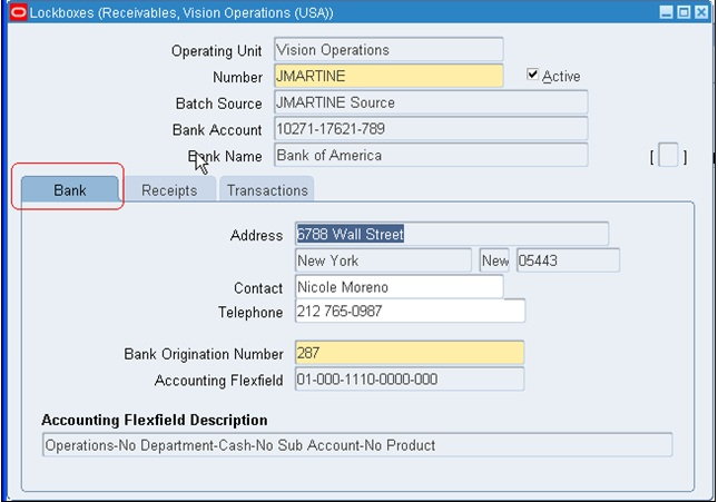 AutoLock Box In R12 Oracle Techno \ Functional - payroll receipt