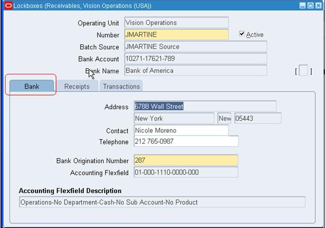 AutoLock Box In R12 – Payroll Receipt
