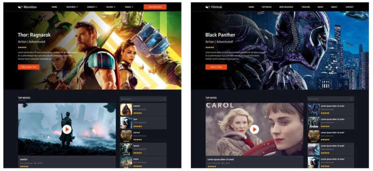 moviebox шаблон для joomla