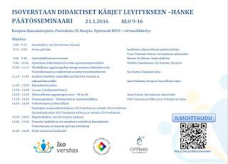 Dida2-hankkeen päätösseminaari 21.1.2016