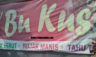 Warung Rujak Cingur, Bu Kus, Sawojajar, Malang