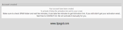 activation link sent to your e-mail