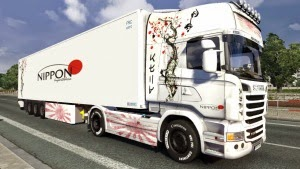 Scania R Nipon skin + trailer