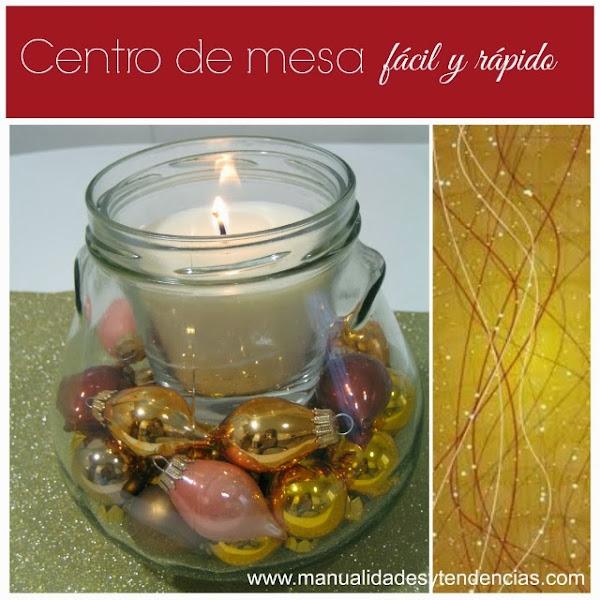 Diy centro de mesa navide o christmas centerpiece for Centro de mesa navideno manualidades