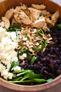 Cranberry and Chicken Spinach Salad with Orange Dressing: Savory Sweet and Satisfying
