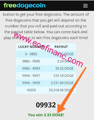 Gagner DOGCOIN gratuitement  et commencer a changer votre vie avec les monnaies numériques
