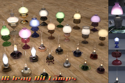 IG Iray Oil Lamps