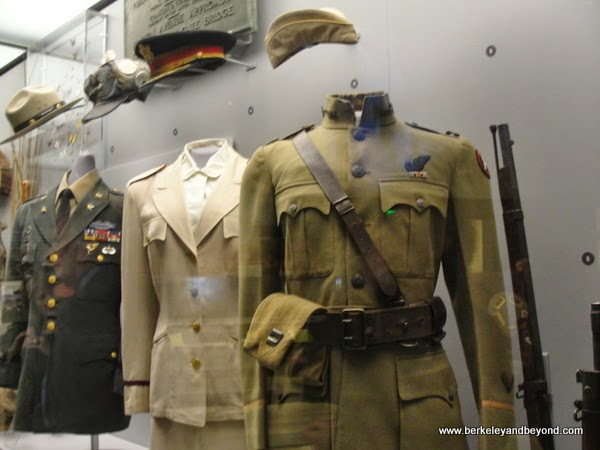 military uniforms displayed at Presidio Heritage Gallery in Officers Club at the Presidio in San Francisco, California