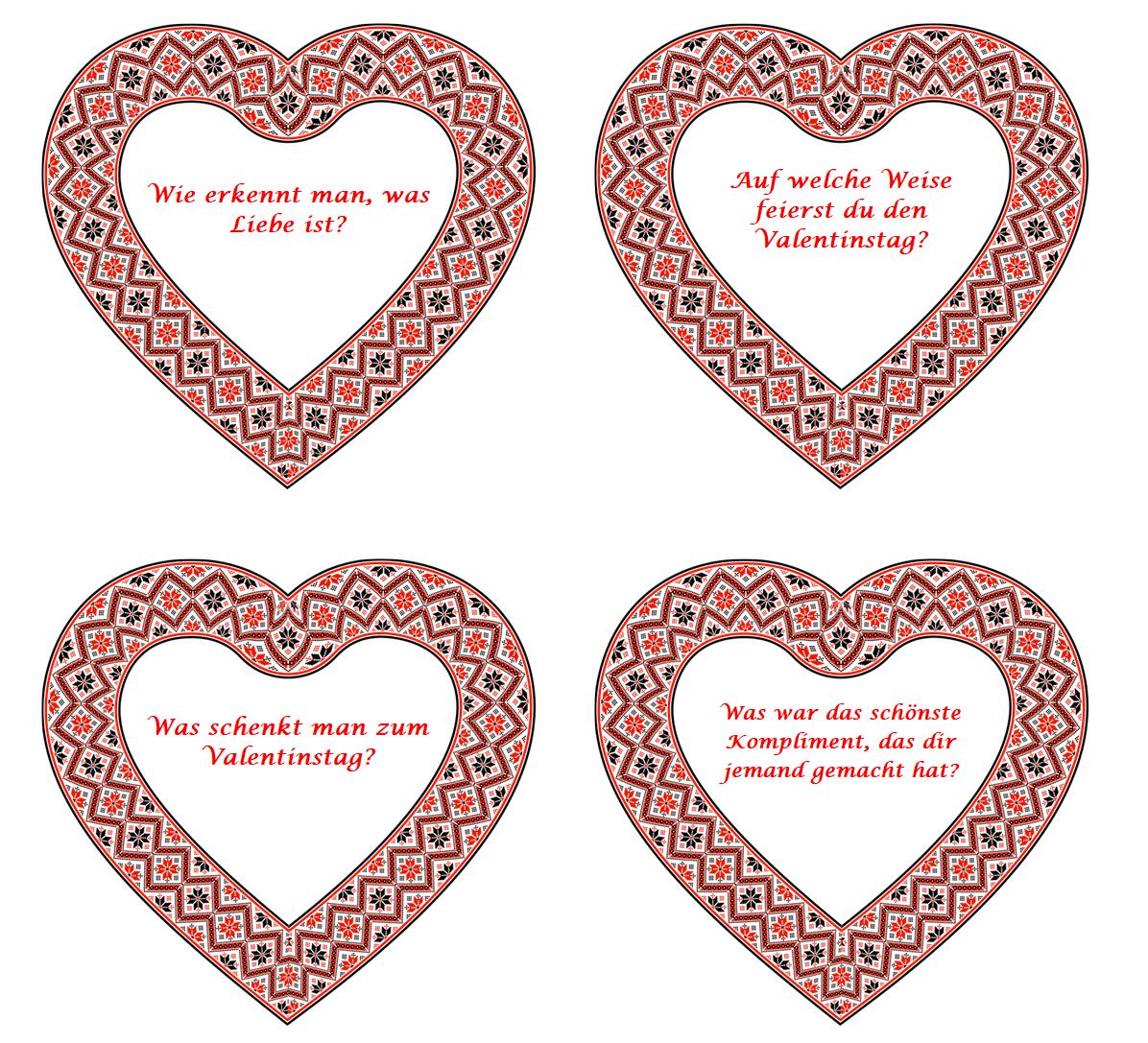 Prolingua Szkoła Językowa Walentynki Pytania Konwersacyjne