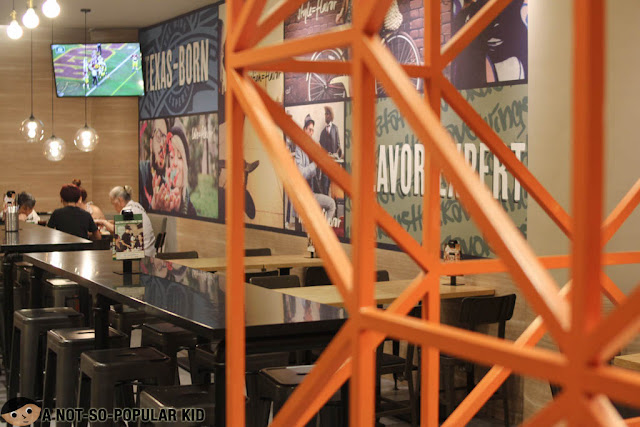 Wingstop interior in Glorietta Complex, Makati
