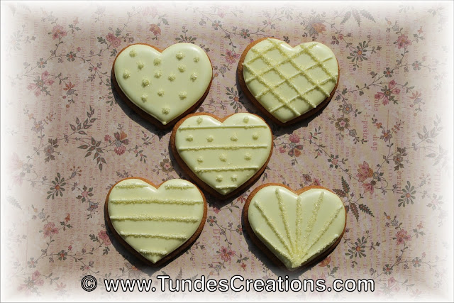 Yellow heart cookies by Tunde Dugantsi