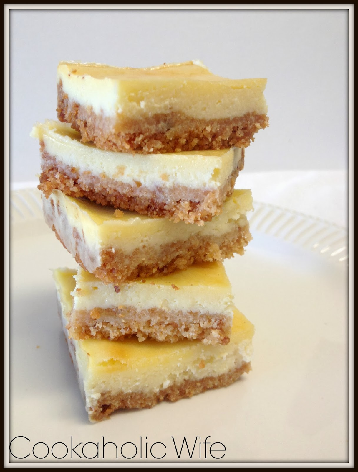 Limoncello Cheesecake Bars - Cookaholic Wife