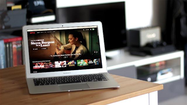 ordinateur et Netflix