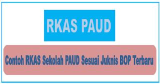 Contoh RKAS BOP PAUD