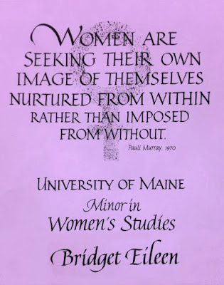 """Women are seeking their own image of themselves Nurtured from within rather than imposed from without"" ~Pauli Murray, 1970"