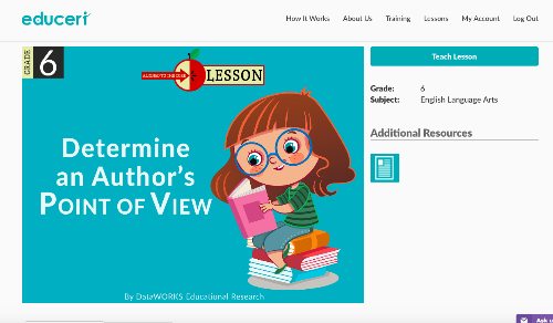 Point of view slideshow lesson