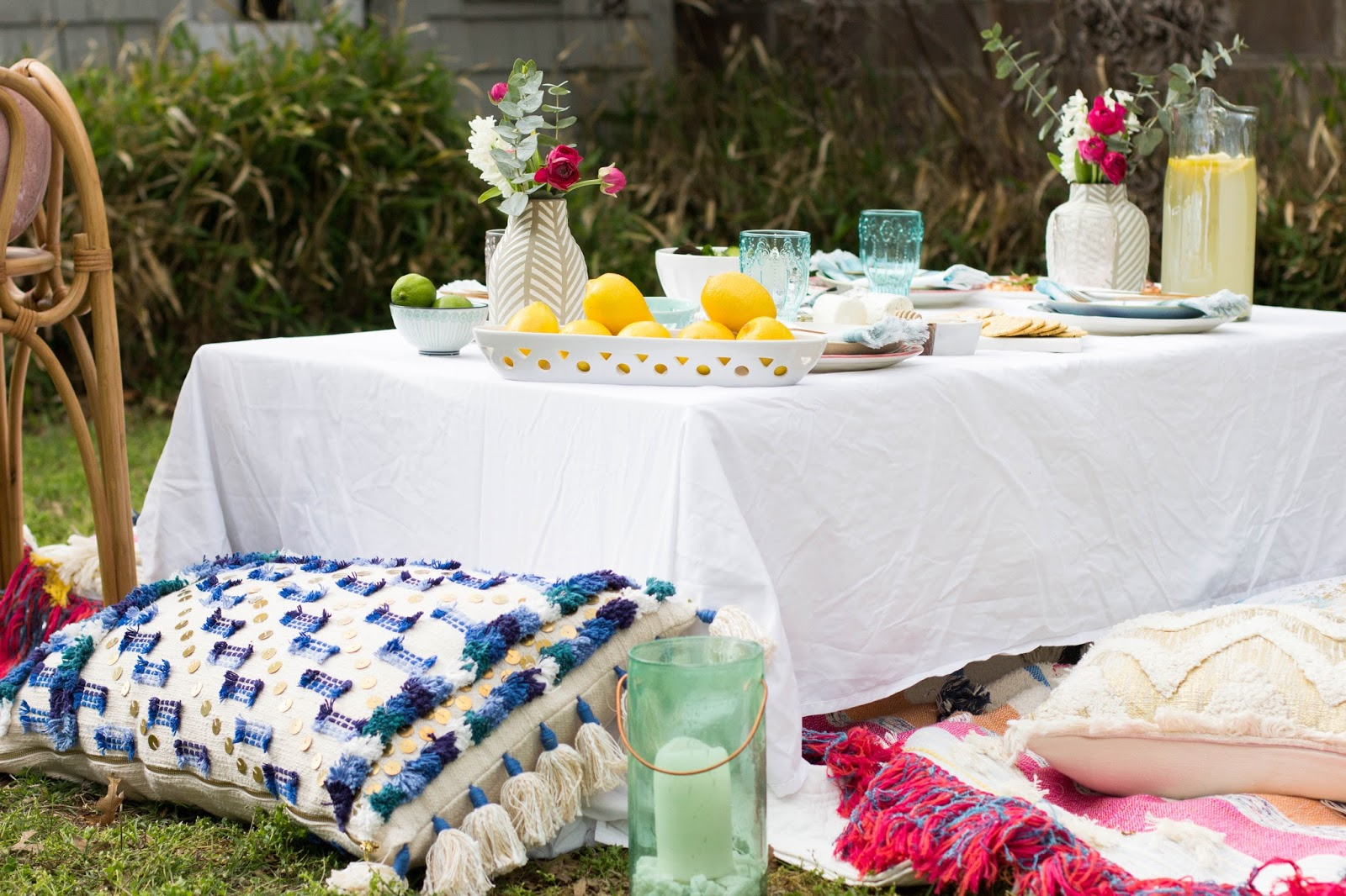 always rooney a backyard summer picnic with anthropologie