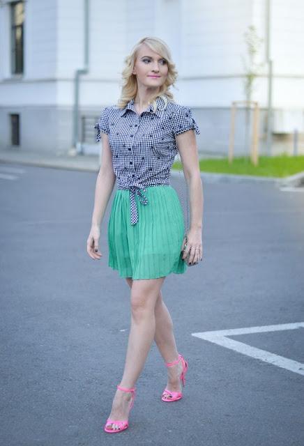 faldas cortas con blusas