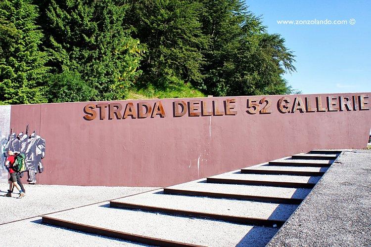 Le 52 gallerie del Pasubio gita fuori porta Veneto, cosa fare e vedere, attrezzatura come arrivare panorama trip WWI italian trenches