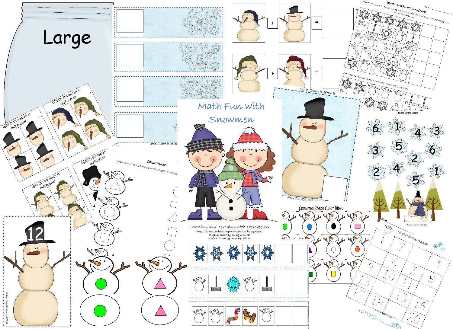 Learning And Teaching With Preschoolers Math Fun With Snowmen