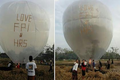 Beri Dukungan Moril Pada FPI dan Habib Rizieq Warga Jatim Terbangkan Balon Udara Raksasa