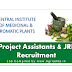 Project Assistants & JRF Recruitment CSIR-Central Institute of Medicinal & Aromatic Plants