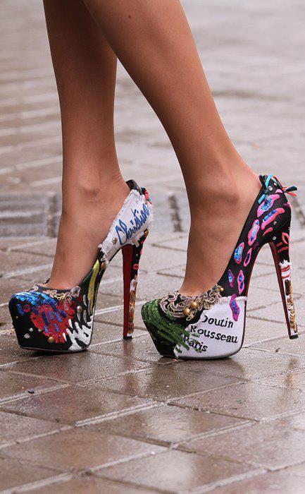 zapatos de tacon ancho