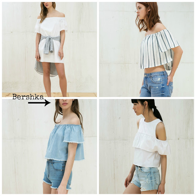 proposte off shoulder bershka