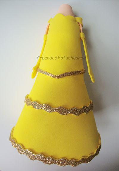 vestido-fofucha-bella-tutorial-fofuchos-bella-y bestia-colaboración-con-creavea