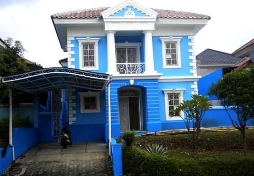 Perpaduan Kombinasi Warna Cat Dinding Biru Yang Indah Pada ...