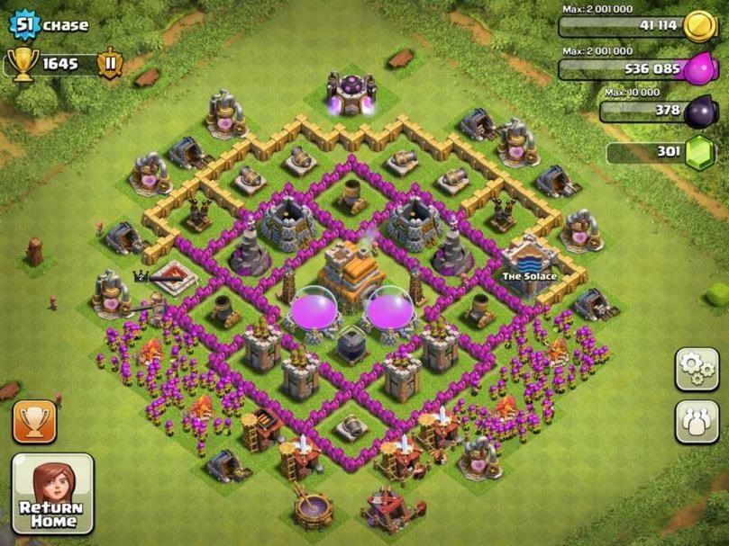 clash of clans 7 seviye köy binas? en iyi savunma