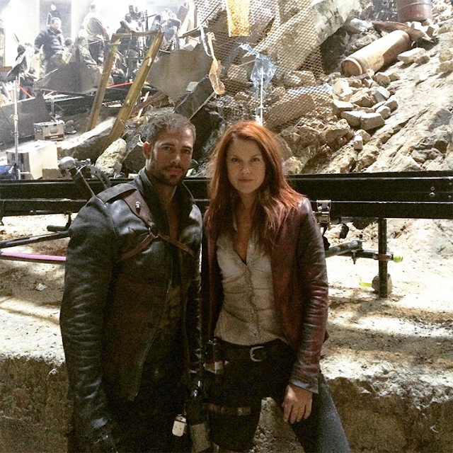 Ali Larter şi William Levy pe platourile de filmare pentru Resident Evil: The Final Chapter