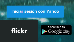 Iniciar sesion Flickr con Yahoo Mail
