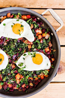 kale and beet hash